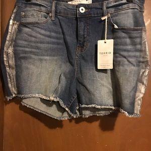 Torrid blue jeans shorts